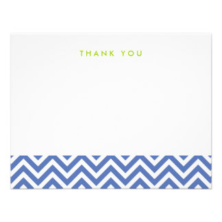 Chevron simple azul le agradece las tarjetas de no comunicado personal