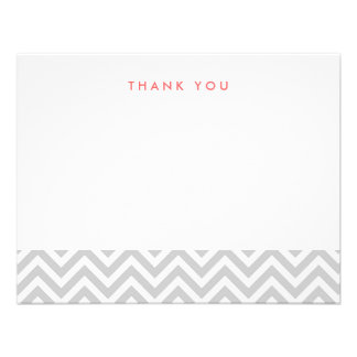 Chevron simple gris le agradece las tarjetas de no invitación personalizada