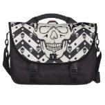 Chevron skull pattern laptop bags