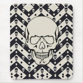 Chevron skull pattern mouse pad