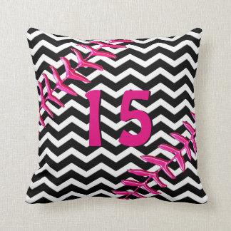 Chevron Softball Pillows Jersey Number or Monogram