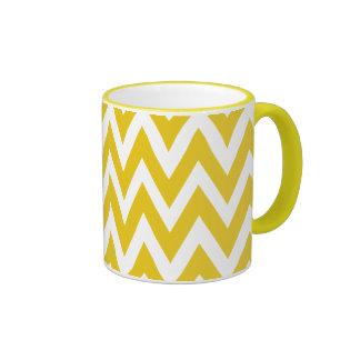 Chevron soña el café amarillo y blanco del galón tazas