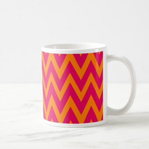 Chevron soña el café del galón de las rosas taza clásica