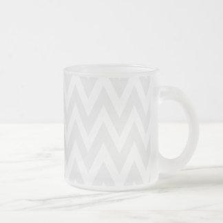 Chevron soña el vidrio esmerilado del galón del hu taza de café
