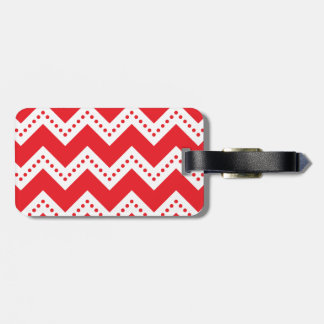 Chevron Spotted 6 Red.png Luggage Tag