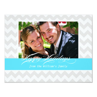 Chevron Stripe Holiday Cards