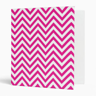 Chevron Stripe Pink Pattern 3 Ring Binder