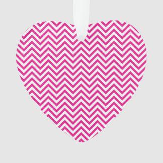 Chevron Stripe Pink Pattern Ornament