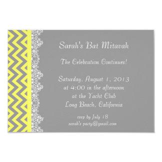 Chevron Stripe - yellow  Invitation - insert