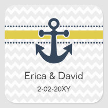 chevron stripes, anchor, nautical envelopes seals