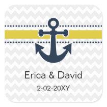 chevron stripes, anchor, nautical envelopes seals