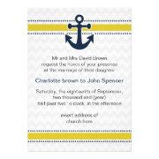 chevron, anchor, mod nautical wedding invites by mgdezigns