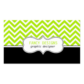 Chevron Stripes Double-Sided Standard Business Cards (Pack Of 100)