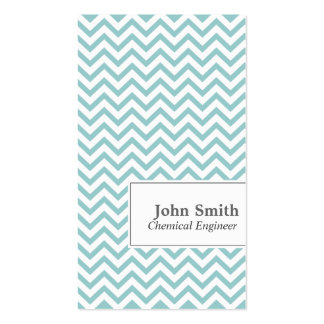 Chevron Stripes Chemical Engineer Business Card