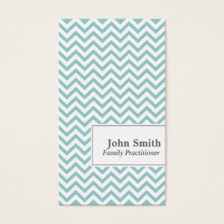 Chevron Stripes Family Practitioner Business Card