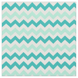 Chevron Stripes in Shades of Teal Fabric