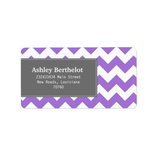 Chevron Stripes Label