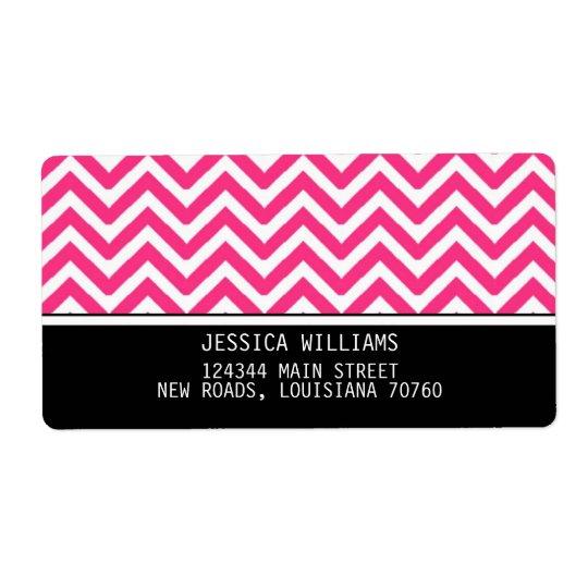 Chevron Stripes Label