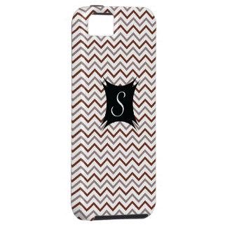 Chevron Stripes Pattern with  Monogram iPhone SE/5/5s Case