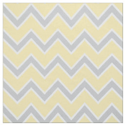 Chevron Stripes Pattern | Yellow Gray and White Fabric