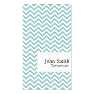 Chevron Stripes Photographer Business Card