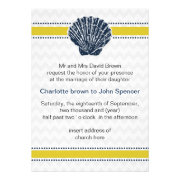 chevron, seashell, mod beach wedding invites by mgdezigns