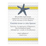 chevron, starfish, mod beach wedding invites by mgdezigns