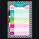 "Chevron &amp; Stripes Weekly Meals Dry Erase Board<br><div class=""desc"">Chevron &amp; Stripes Weekly Meals Dry Erase Board - perfect to plan out your meals every week to stay on track or to record and track points,  calories and more! Great for grocery list planning and vacation meal planning.</div>"