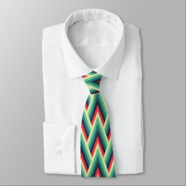 Professional Business Chevron Style Print Tie