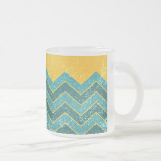 CHEVRON Summer is crazy Frosted Glass Coffee Mug