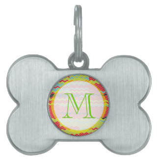 Chevron Surprise Pet Name Tag