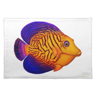 Chevron Tang Reef Fish Placemats