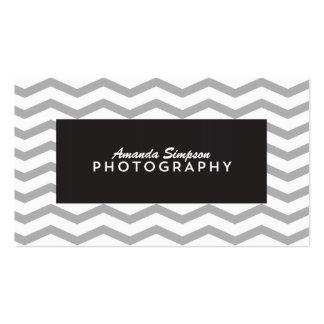 Chevron/tarjeta de visita de la fotografía del zig tarjetas de visita