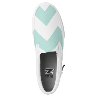 Chevron Teal Printed Shoes