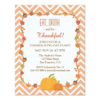 Chevron Thanksgiving Dinner Invitations