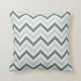 Chevron Throw Pillow {Powder Blue, Denim & Cream}