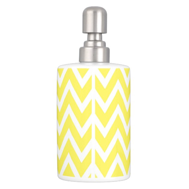 Chevron Toothbrush Holder Soap Dispenser Set Zazzle Toothbrush And Soap Coloring