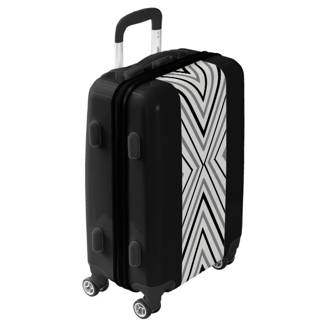 Chevron Triangle Abstract Pattern Luggage