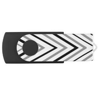 Chevron Triangle Swivel USB 2.0 Flash Drive