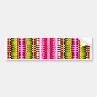 Chevron tribal de moda moderno colorido pegatina de parachoque