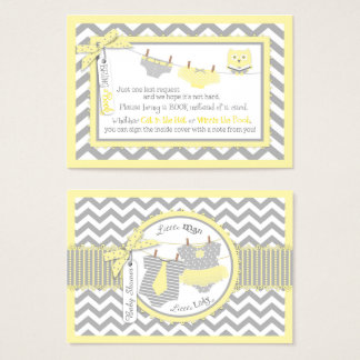 Chevron Tutu Tie Diapers Owl Bring a Book Card
