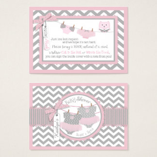 Chevron Tutus Diaper Jumper Owl Bring a Book Card