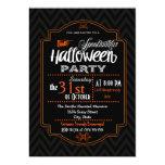 Chevron & Typography Halloween Invitation