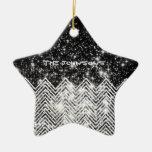 CHEVRON Universe Double-Sided Star Ceramic Christmas Ornament