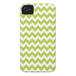 Chevron verde chartreuse Iphone 4 o caso 4S iPhone 4 Protectores