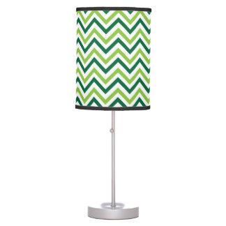 Chevron verde doble lámpara de mesa