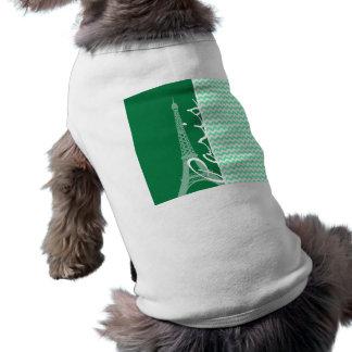 Chevron verde; París Prenda Mascota