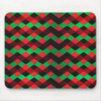 Chevron verde rojo tapetes de raton