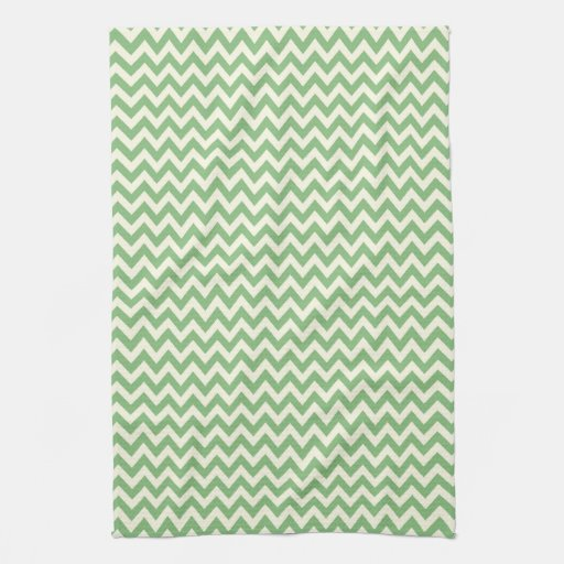 Chevron verde y poner crema modelado toalla de cocina