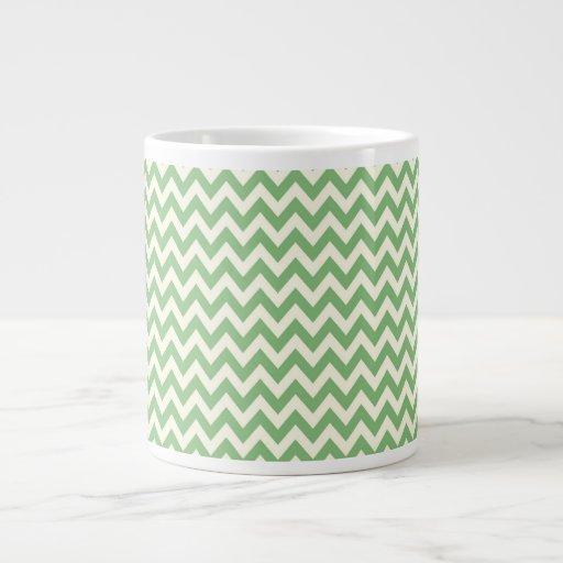Chevron verde y poner crema modelado tazas extra grande